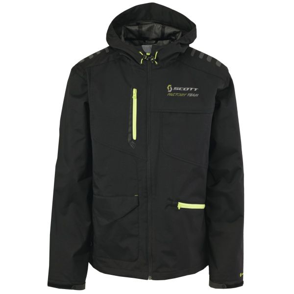 Jacket Scott Factory Team blk/lime grn
